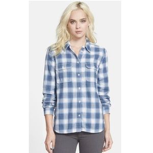 PAIGE | Trudy denim plaid shirt